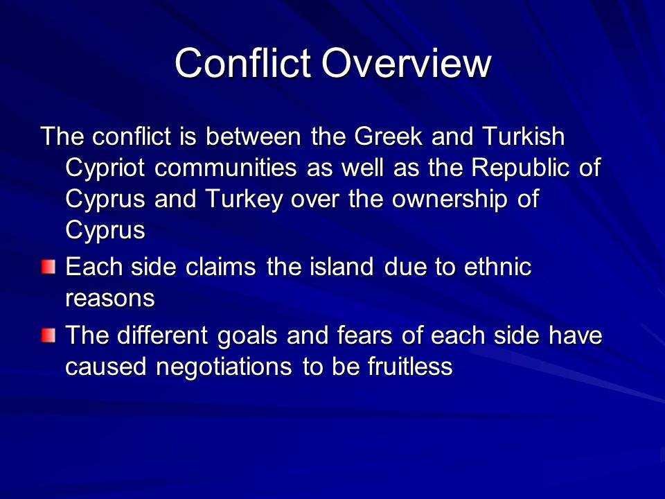 Conflict Overview