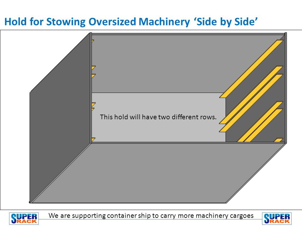 Hold for Stowing Oversized Machinery 'Side by Side'