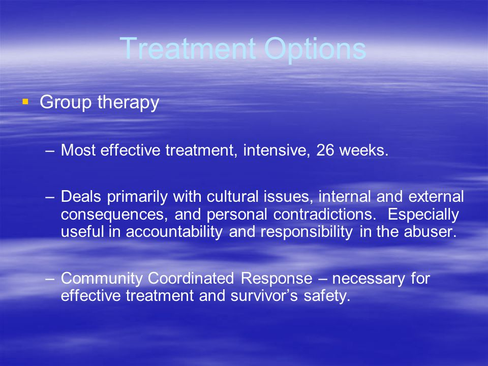 Treatment Options Group therapy