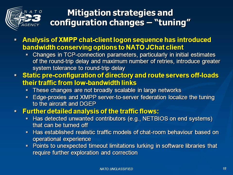 Mitigation strategies and configuration changes – tuning