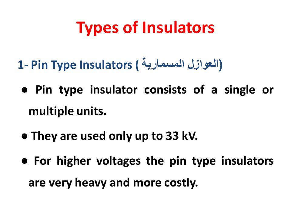 Types of Insulators