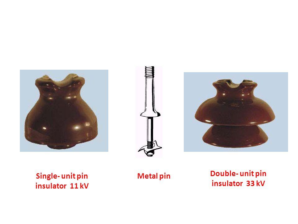 Double- unit pin insulator 33 kV Single- unit pin insulator 11 kV