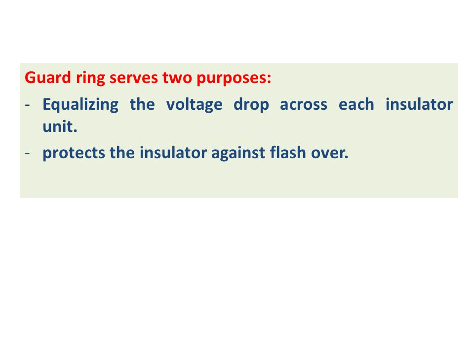 Guard ring serves two purposes: