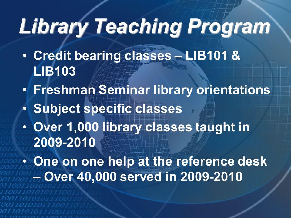 Library Teaching Program