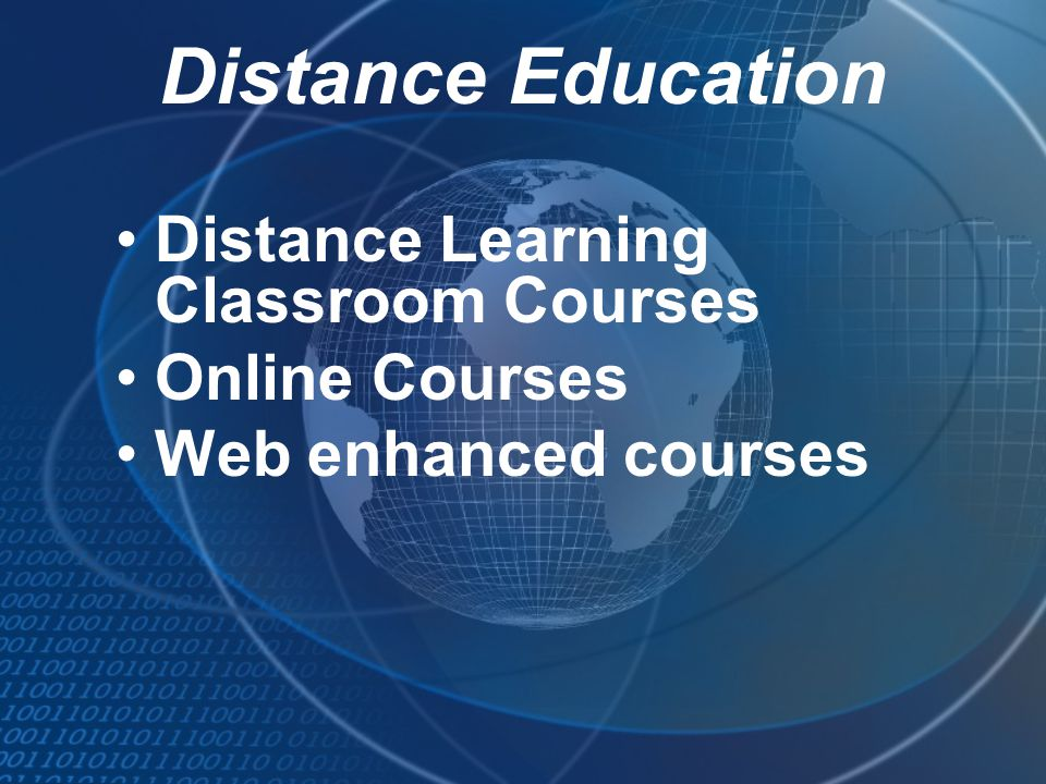 Distance Education Distance Learning Classroom Courses Online Courses