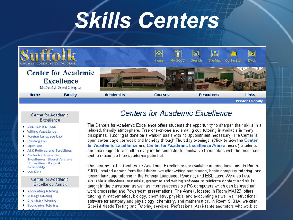 Skills Centers