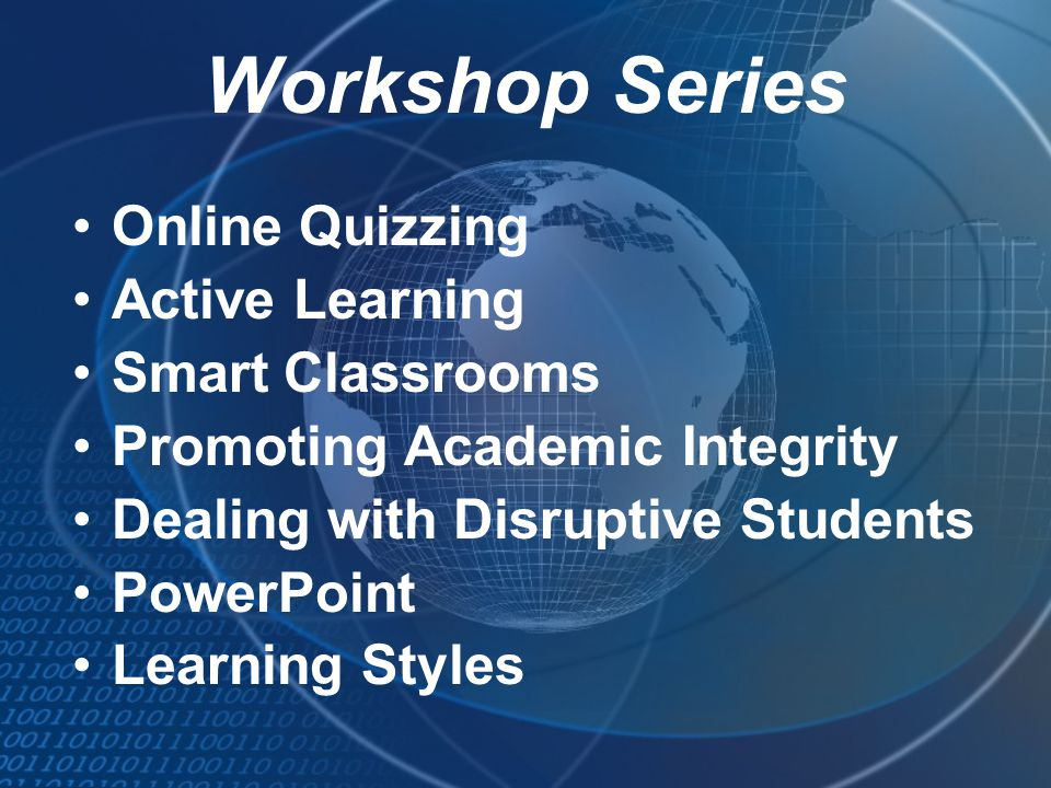 Workshop Series Online Quizzing Active Learning Smart Classrooms