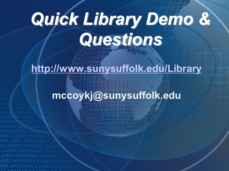 Quick Library Demo & Questions