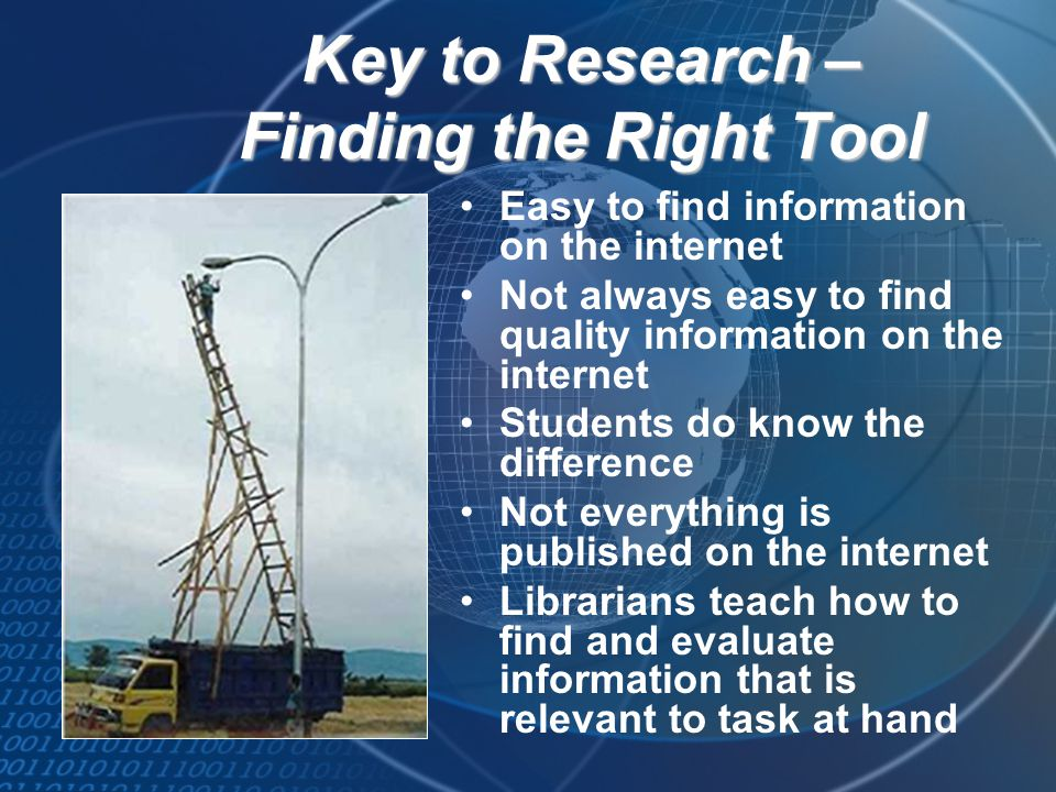 Key to Research – Finding the Right Tool
