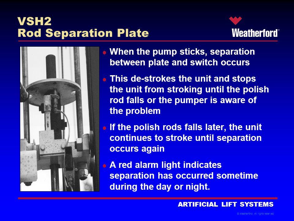 VSH2 Rod Separation Plate