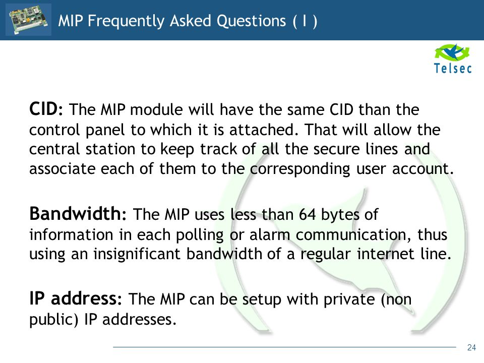 MIP Frequently Asked Questions ( I )