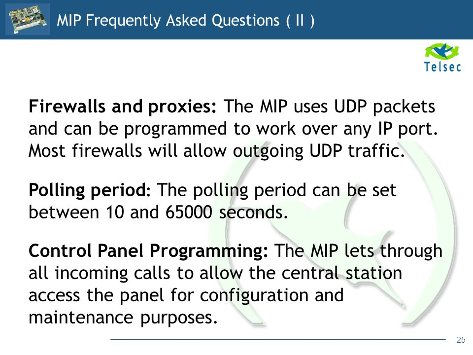 MIP Frequently Asked Questions ( II )