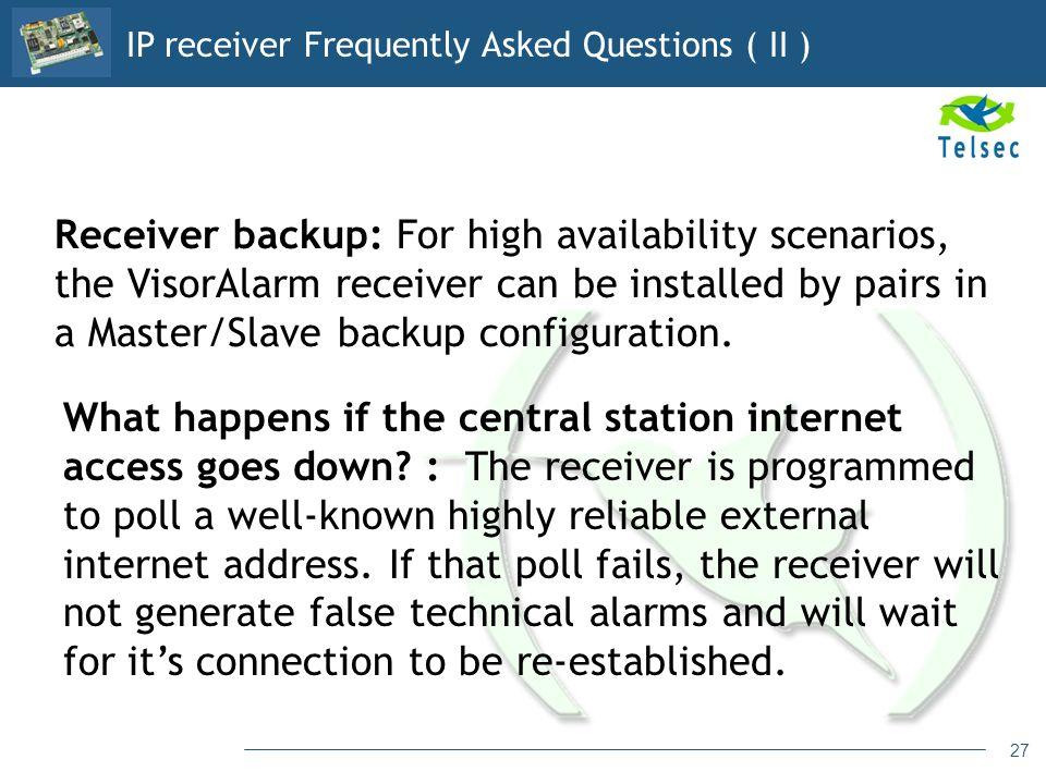 IP receiver Frequently Asked Questions ( II )