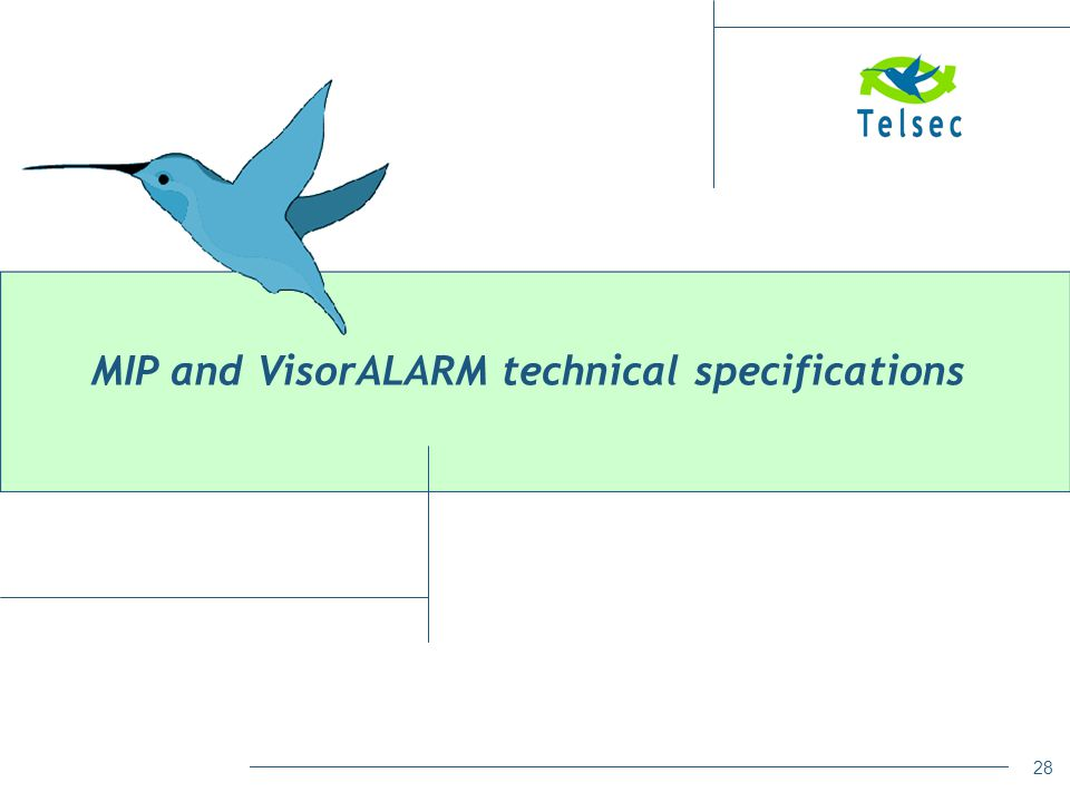 MIP and VisorALARM technical specifications