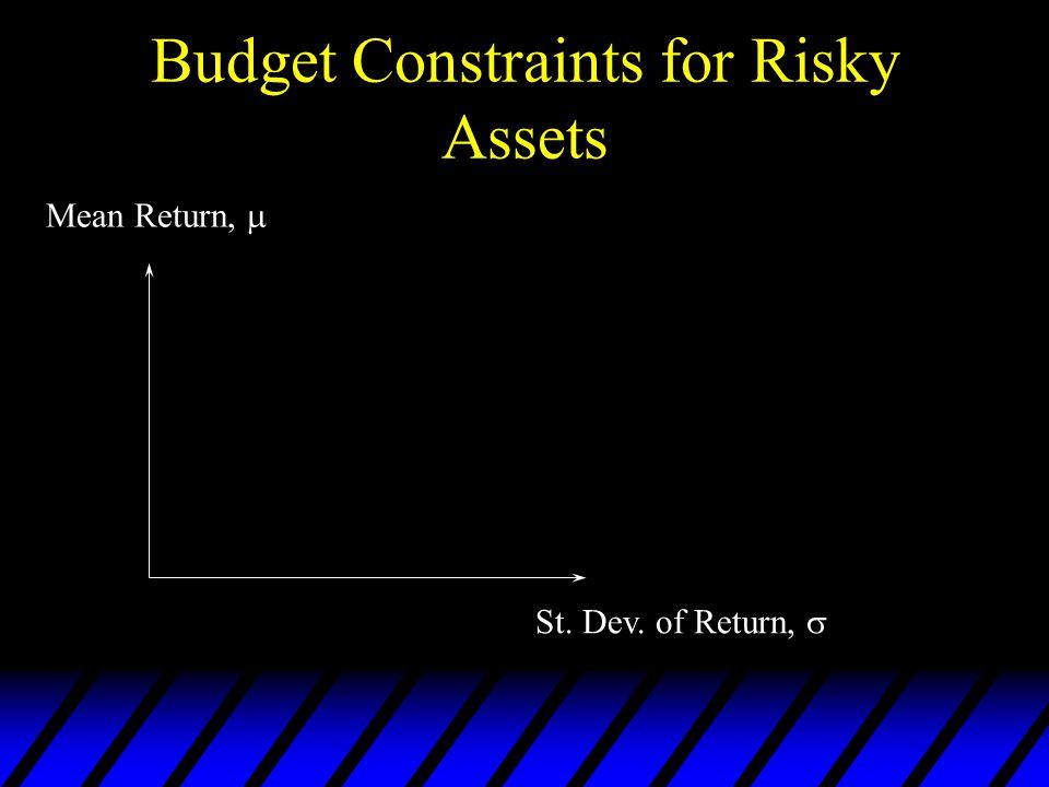 Budget Constraints for Risky Assets