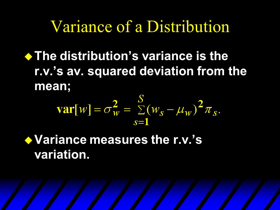 Variance of a Distribution