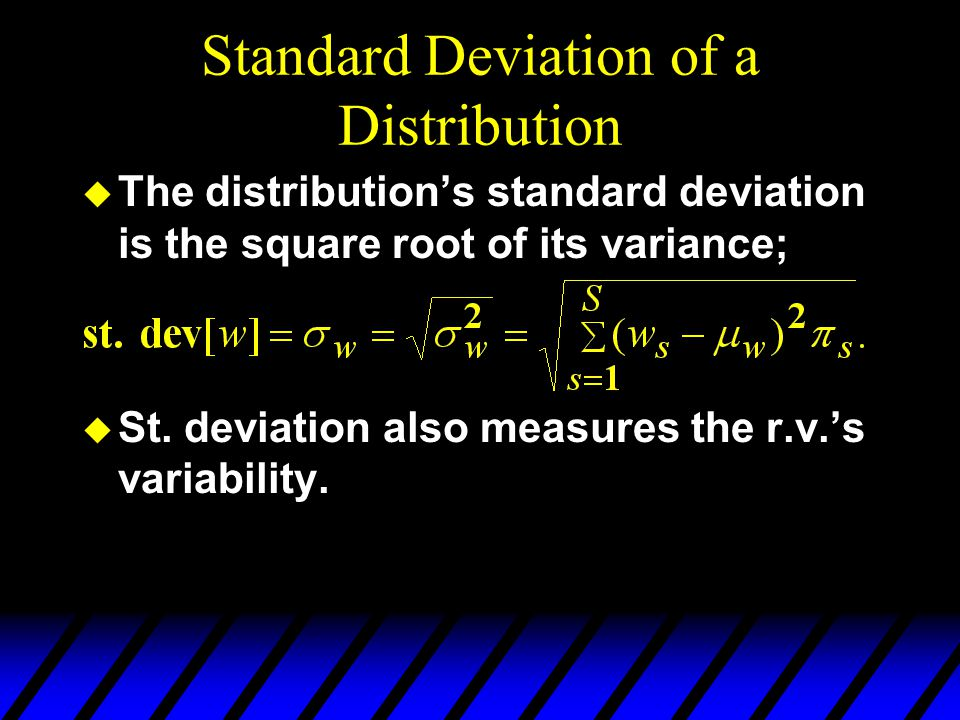 Standard Deviation of a Distribution
