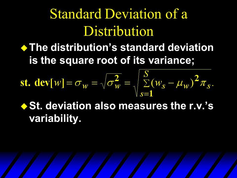 Standard Deviation of a Distribution
