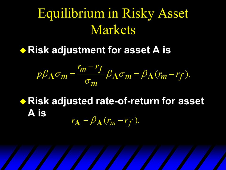 Equilibrium in Risky Asset Markets