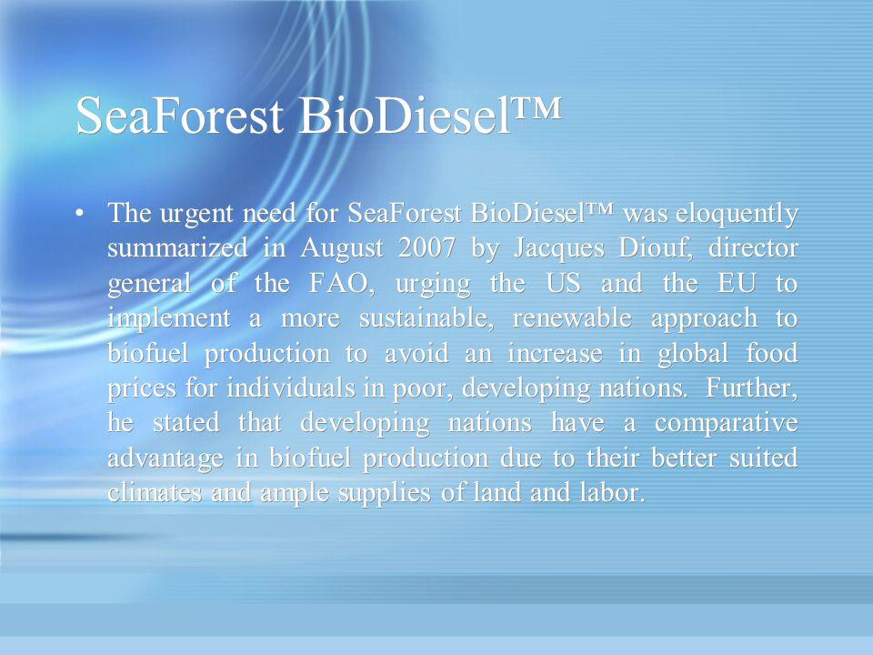 SeaForest BioDiesel™