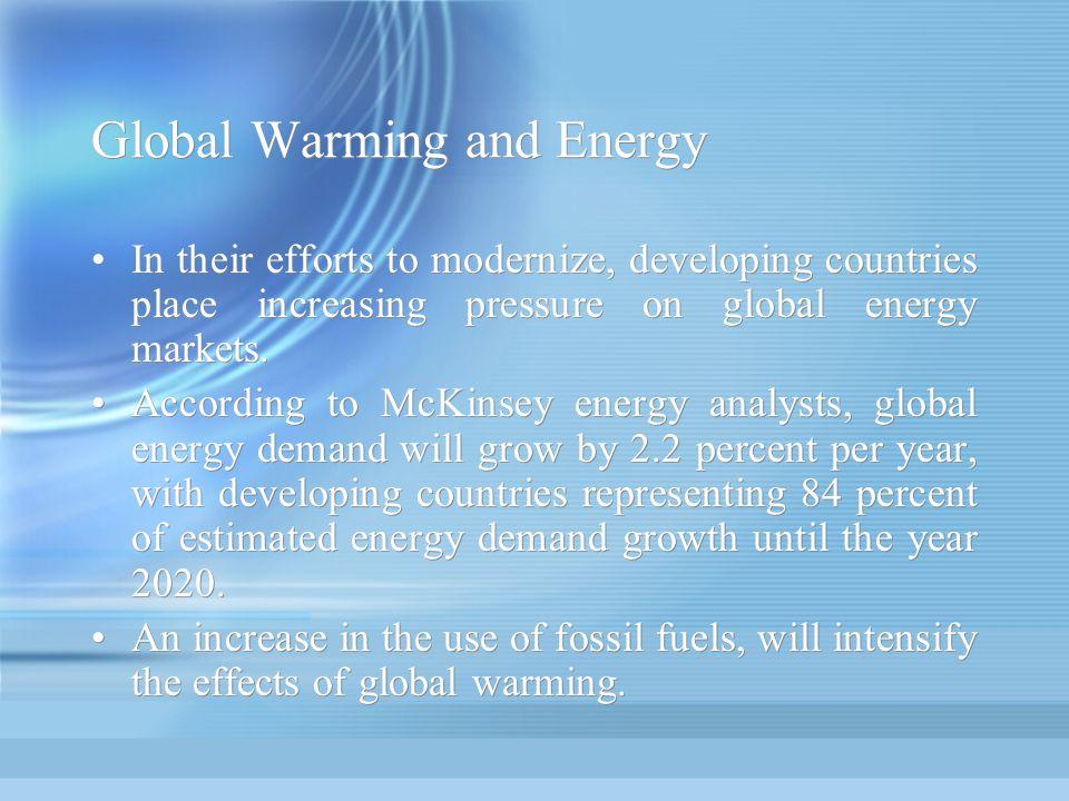Global Warming and Energy