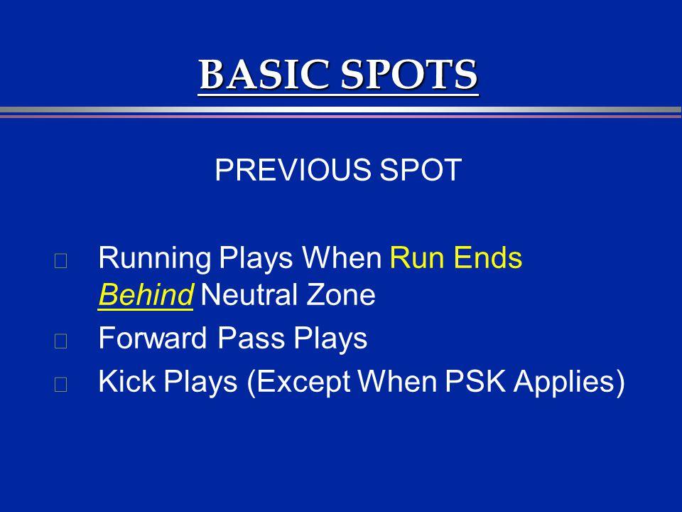 BASIC SPOTS PREVIOUS SPOT