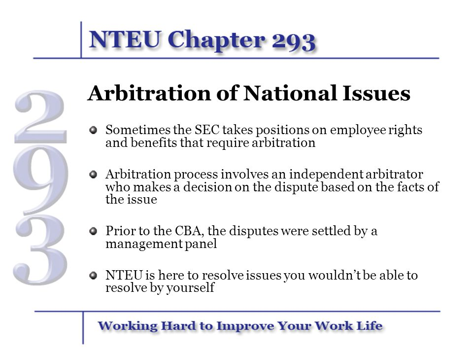 Arbitration of National Issues