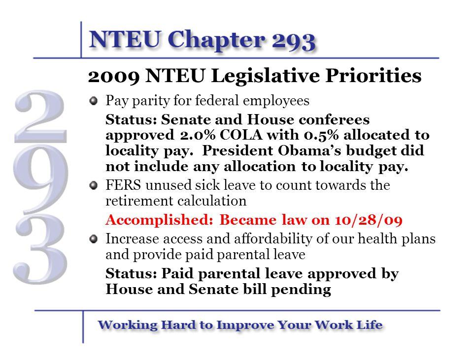 2009 NTEU Legislative Priorities