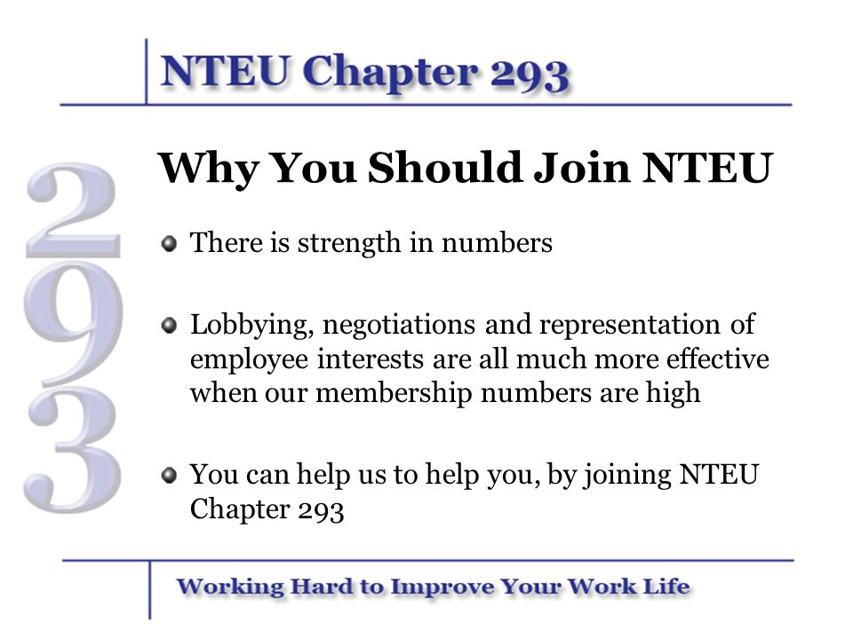 Why You Should Join NTEU