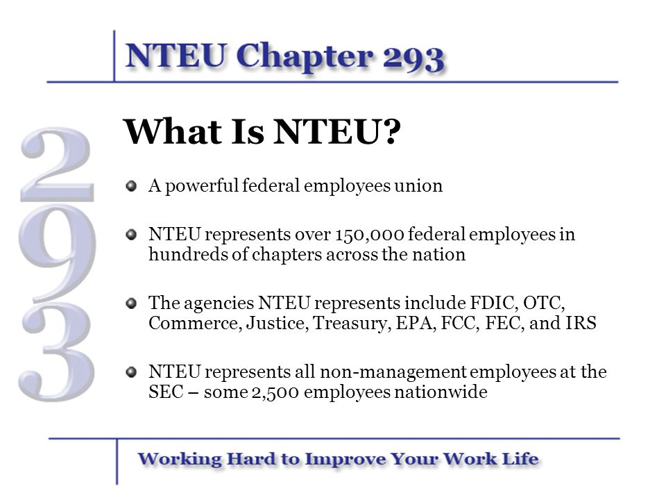 What Is NTEU A powerful federal employees union