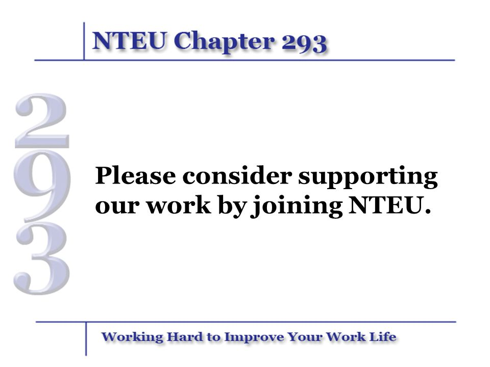 Please consider supporting our work by joining NTEU.