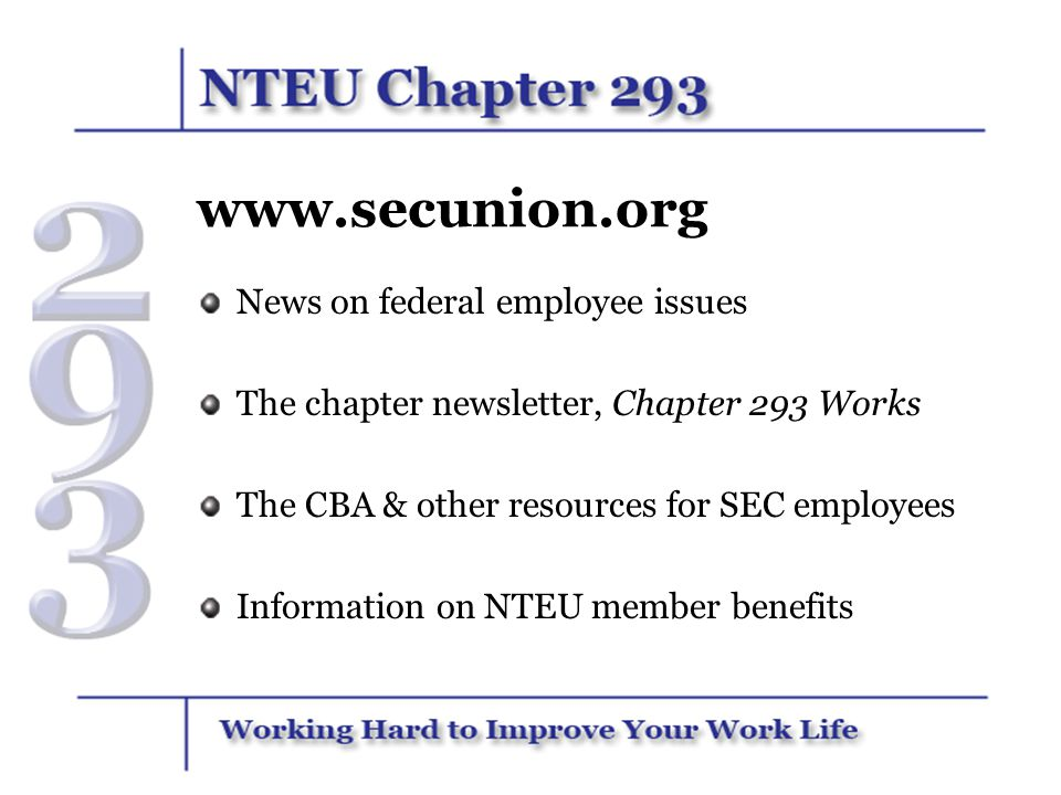 www.secunion.org News on federal employee issues