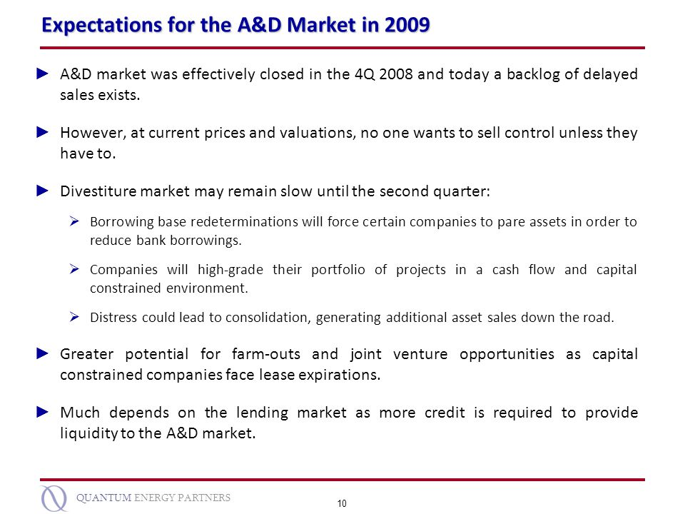 Expectations for the A&D Market in 2009