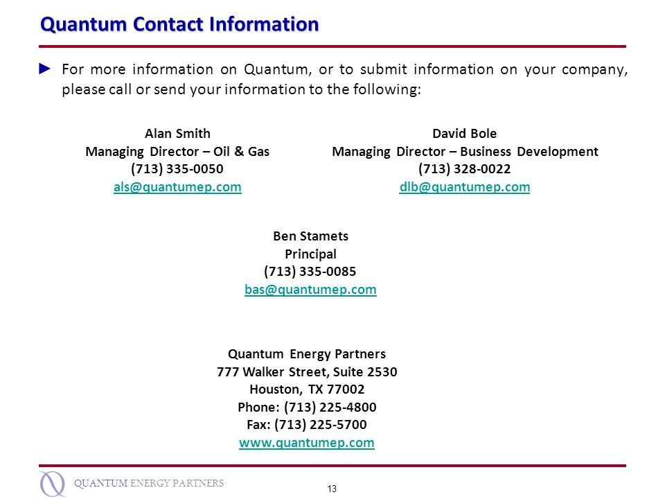 Quantum Contact Information