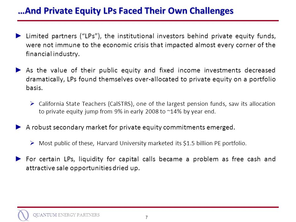 …And Private Equity LPs Faced Their Own Challenges