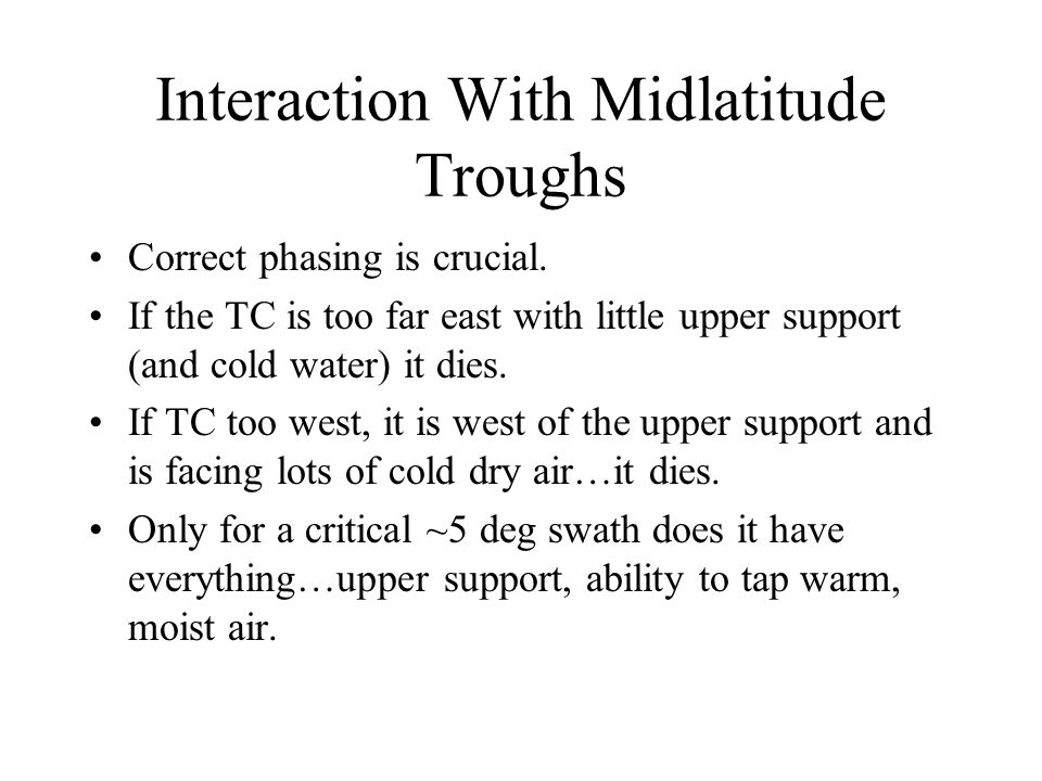 Interaction With Midlatitude Troughs