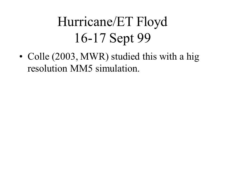 Hurricane/ET Floyd 16-17 Sept 99