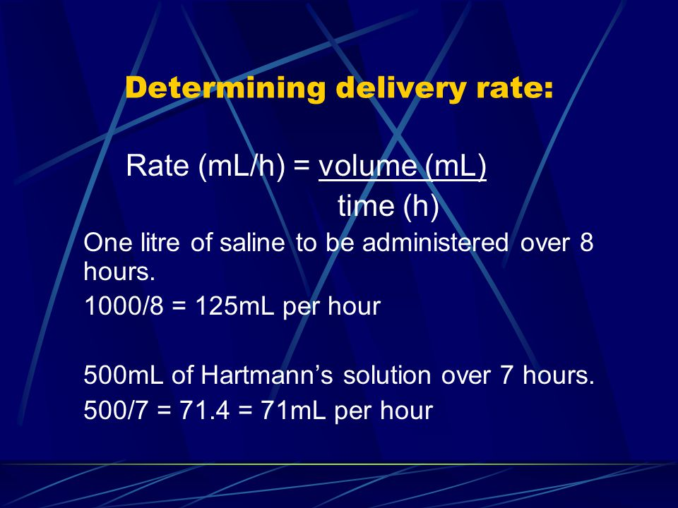 Determining delivery rate: