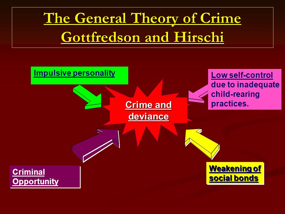 The General Theory of Crime Gottfredson and Hirschi
