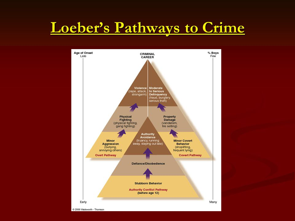 Loeber's Pathways to Crime