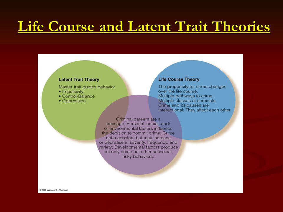 Life Course and Latent Trait Theories