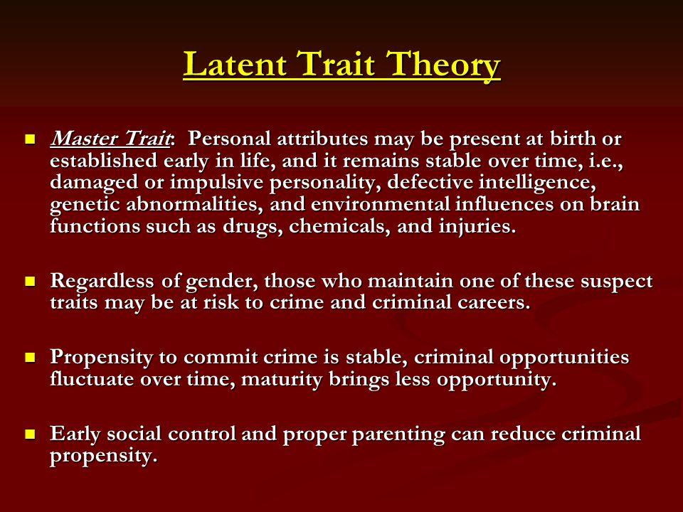 Latent Trait Theory