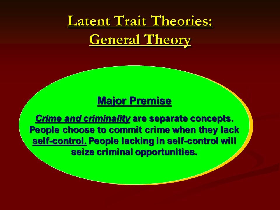 Latent Trait Theories: General Theory