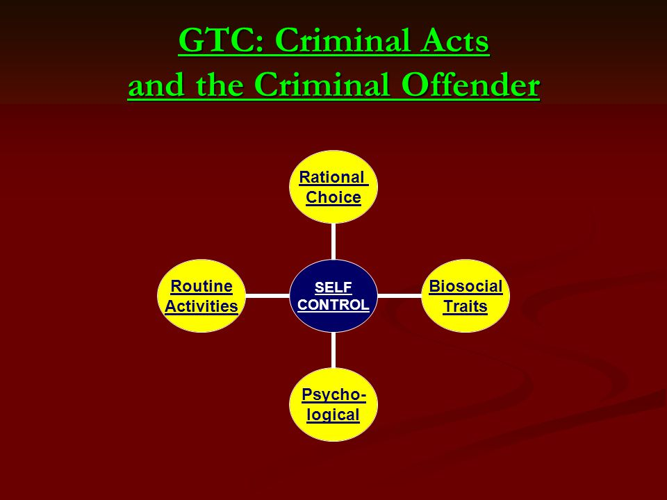 GTC: Criminal Acts and the Criminal Offender