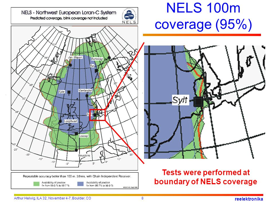 Tests were performed at boundary of NELS coverage
