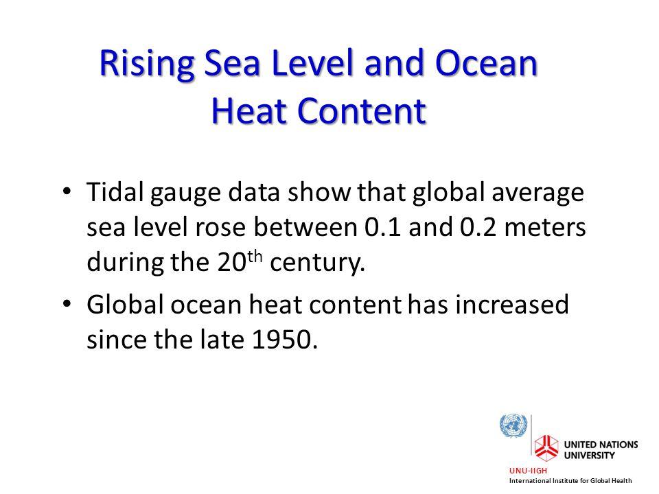 Rising Sea Level and Ocean Heat Content