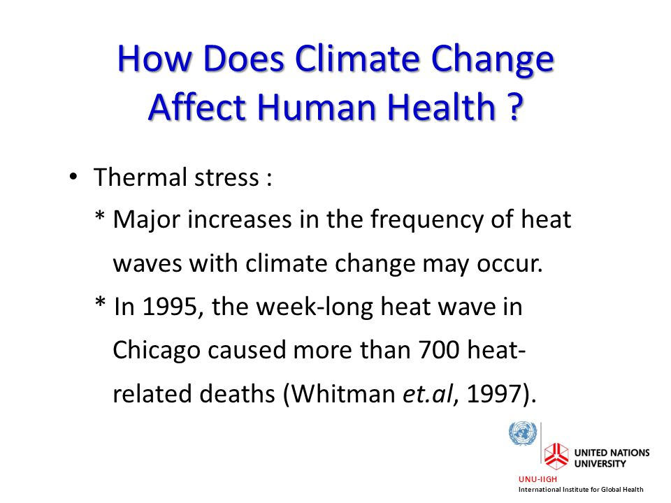 How Does Climate Change Affect Human Health