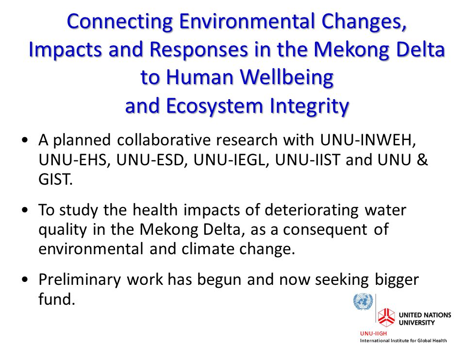 and Ecosystem Integrity