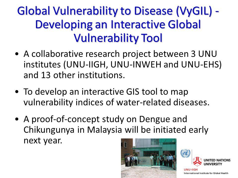 Global Vulnerability to Disease (VyGIL) - Developing an Interactive Global Vulnerability Tool