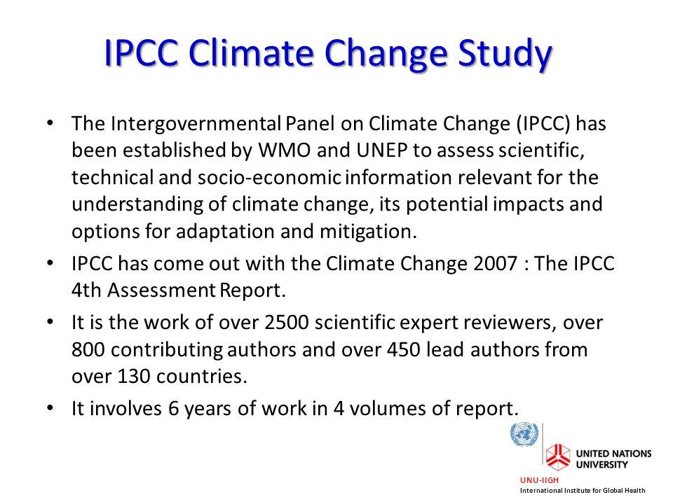 IPCC Climate Change Study